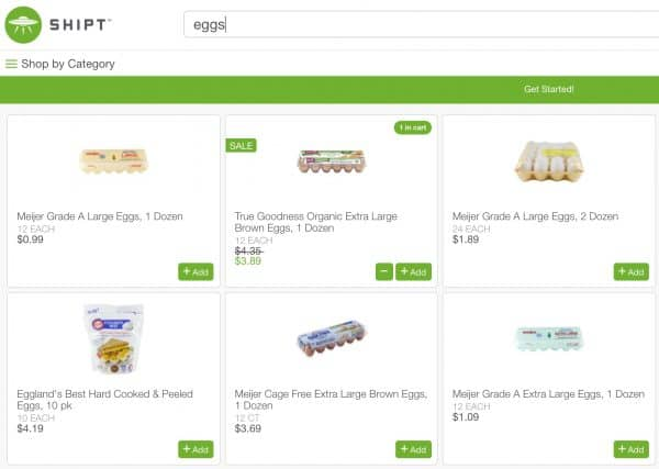 shipt ingredient search