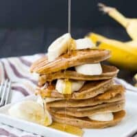 Healthy Banana Pancakes - Whole Wheat