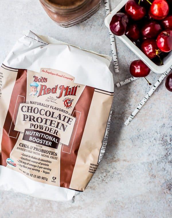 Chocolate Cherry Smoothie - Black Forest Protein Shake