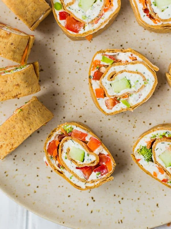 Vegetable Cream Cheese Roll Ups (Extra Protein!) - Rachel Cooks®