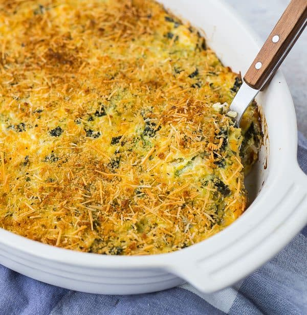 Cheesy, comforting, and filling, this zucchini rice casserole is going to become a favorite around any family table. It's also a great use for leftover rice! Get the recipe on RachelCooks.com!