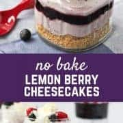 No Bake Lemon Berry Cheesecakes - get the easy dessert recipe on RachelCooks.com