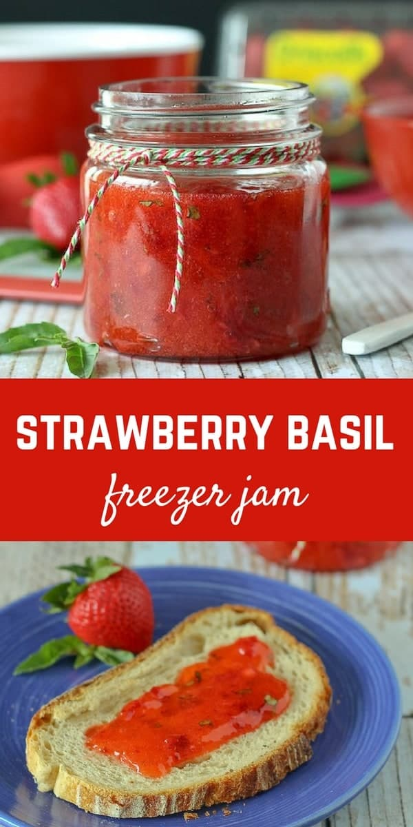 You'll love the basil in this strawberry basil freezer jam -- it is the perfect complement to your favorite slice of toast. Get the easy recipe on RachelCooks.com!