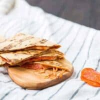 Pizza Quesadilla on the Grill