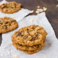 Whole Wheat Chewy Oatmeal Raisin Cookies