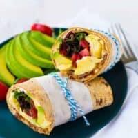 California Breakfast Wrap (Avocado, Egg, Bacon & More!)
