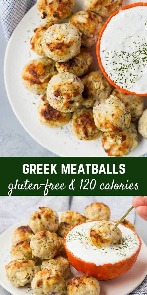 These Greek Meatballs are healthy and gluten-free, making them perfect for meal prep, but they're also great for parties. Pair them with some tzatziki sauce and you're good to go! Get the recipe on RachelCooks.com!