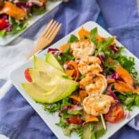 Grilled Shrimp Salad with Garlic Parmesan Italian Vinaigrette