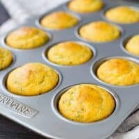 Cornbread Muffin Recipe with Herbs and Cheddar