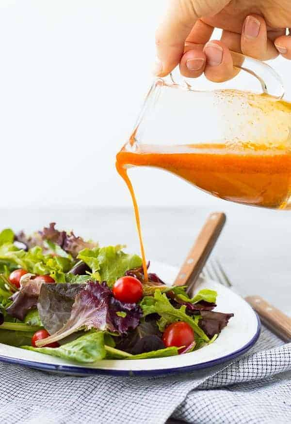Carrot Vinaigrette Salad Dressing with Chili Powder and Cumin