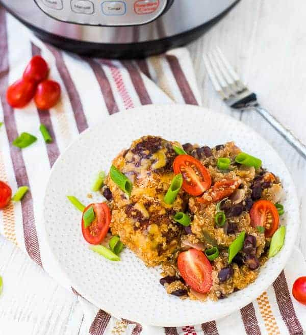 Southwestern instant pot chicken and quinoa rachel cooks for Instant pot fish recipes