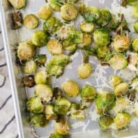 Roasted Brussels Sprouts Recipe with Asiago