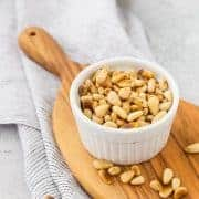 "Learning how to toast pine nuts is an essential skill you'll want in that cooking ""tool box."" Knowing how to toast pine nuts will elevate your recipes that include pine nuts and take the flavor to the next level! You'll learn three easy methods and what situations are best for each method! Find it on RachelCooks.com!"