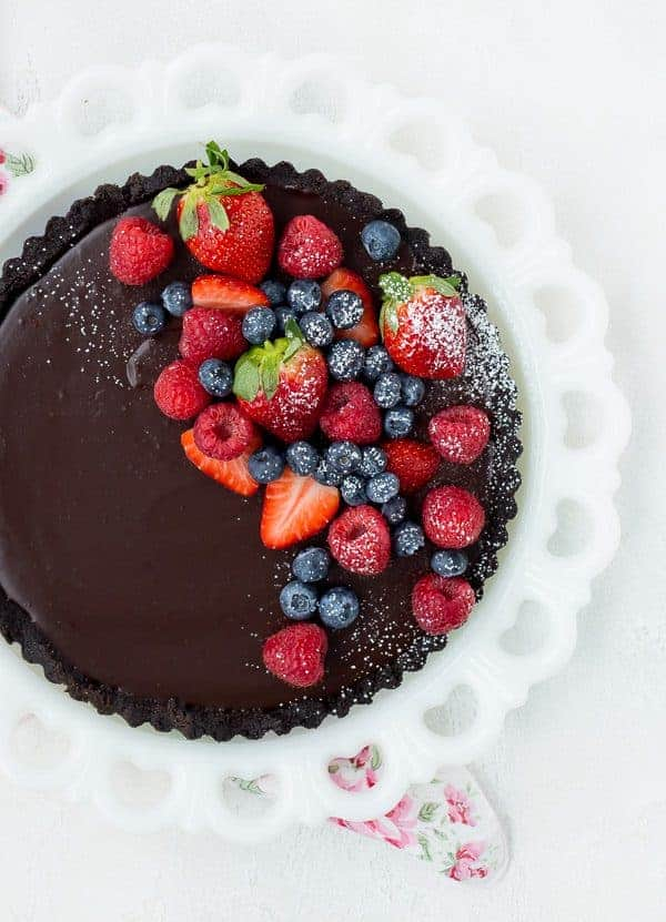 How To Decorate A Chocolate Cake With Fruit