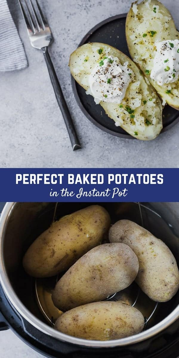 Making Instant Pot Baked Potatoes is significantly faster than baking them in the oven and yields great results! Once you try this method, it's going to be your preferred method of making baked potatoes. Make them tonight and you'll see! Get the easy recipe on RachelCooks!