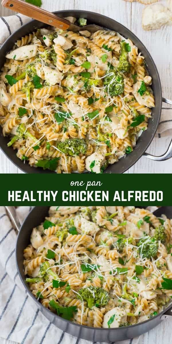 An Easy Chicken Alfredo Recipe with Broccoli that's made in ONE PAN and has far less calories than a traditional Alfredo? Does it seem too good to be true? It's not! This recipe is the perfect thing to satisfy that Alfredo craving without leaving you feeling sluggish and sick. Make it tonight!