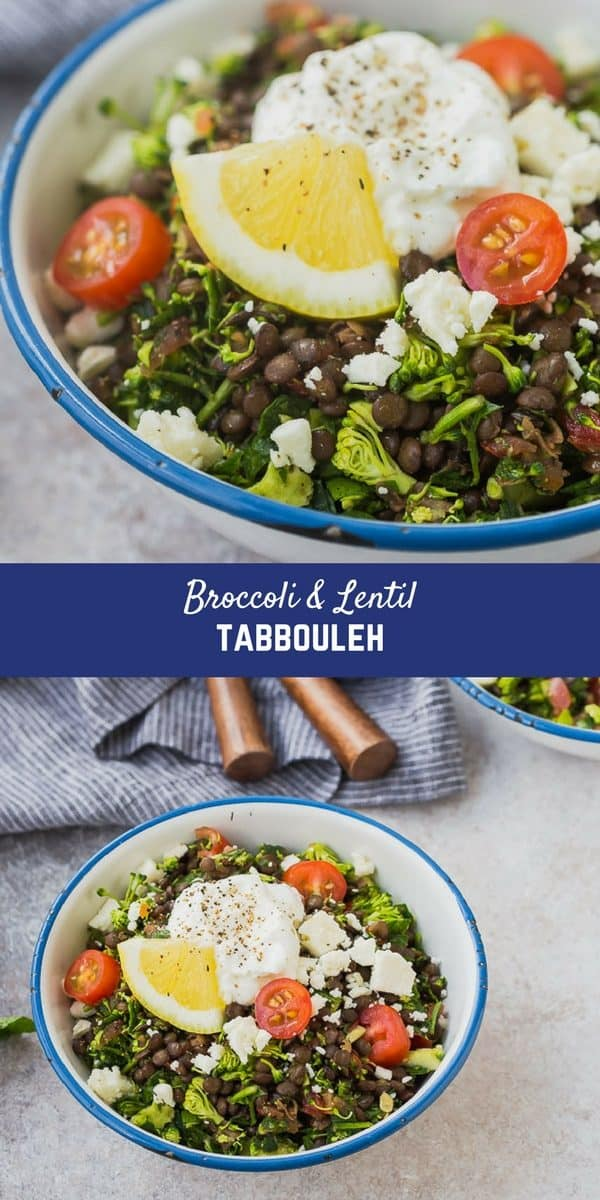 This broccoli tabbouleh with lentils is the perfect lunch! You can make it ahead, it's super filling, and so good for you. It's a fun gluten-free and it has all the flavor of tabbouleh that you know and love. It will become an instant favorite!