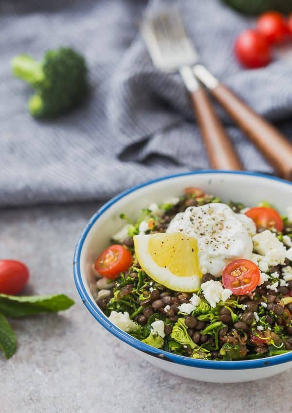 image of broccoli tabbouleh in a bowl