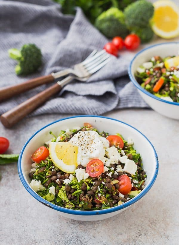This broccoli tabbouleh with lentils is the perfect lunch! You can make it ahead, it's super filling, and so good for you. It's a fun, gluten-free, and it has all the flavor of tabbouleh that you know and love. It will become an instant favorite!