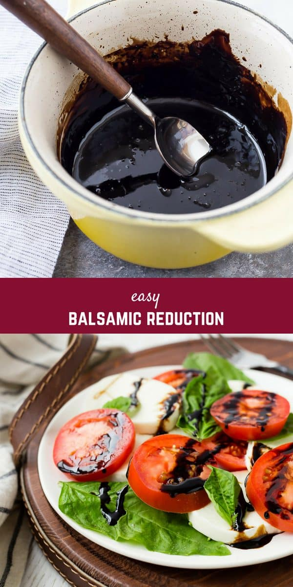 Balsamic Reduction is a simple sauce that can elevate a dish to the next level, and it's so easy to make at home! It only takes one ingredient and just a little time to create this sweet, tangy, syrupysauce.