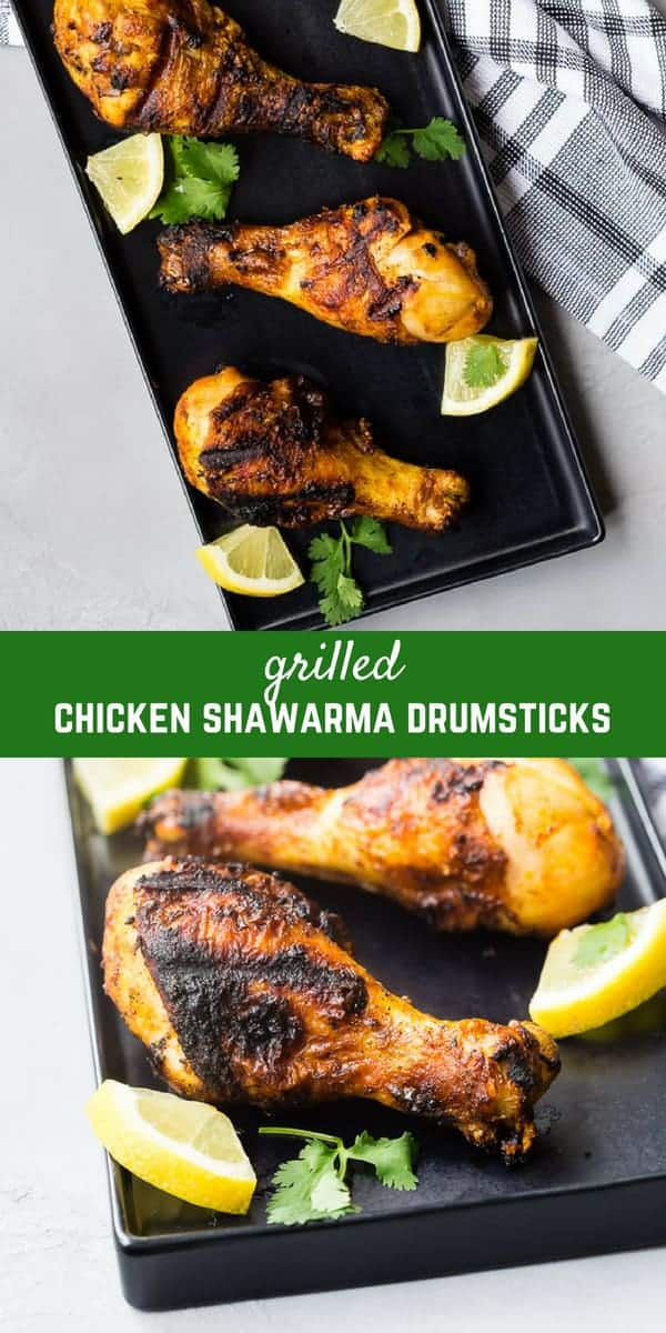 These flavorful grilled chicken shawarma drumsticks are going to become a summertime favorite! With the flavors of chicken shawarma that you know and love, you'll want to plan on putting this recipe into regular rotation!