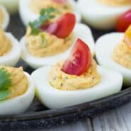 Full of flavor, these southwest deviled eggs are a fun twist on a favorite. Another bonus: You can have so much fun with toppings!