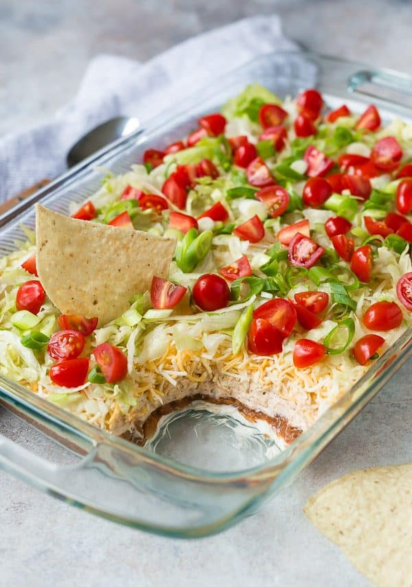 This isn't your ordinary 7 layer dip recipe - it has a couple unique layers that make it really stand out from the crowd. Make it for your next party and everyone will be asking for the recipe!