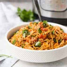 Spaghetti in one pot, made in about 30 minutes sort of seems like a dream come true, doesn't it? Once you try Instant Pot Spaghetti, you might never go back to the traditional stovetop method!
