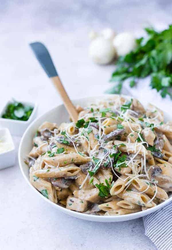 Chicken Marsala Pasta - One Pan!