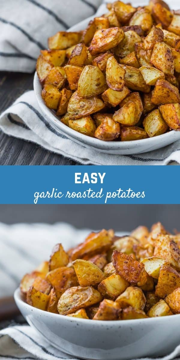 Crispy, flavorful, and irresistible, these garlic roasted potatoes are perfect for breakfast, lunch and dinner. They're going to become a staple in your life!