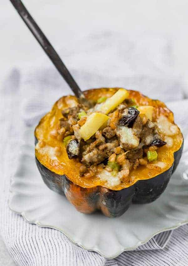 Stuffed Acorn Squash With Sausage And Apples With Video Rachel Cooks