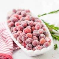 Sugared Cranberries | Candied Cranberries Recipe