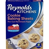 Reynolds Kitchens Cookie Baking Parchment Paper Sheets (SmartGrid, Non-Stick, 22 Sheets) - Perfect for Christmas Cookies