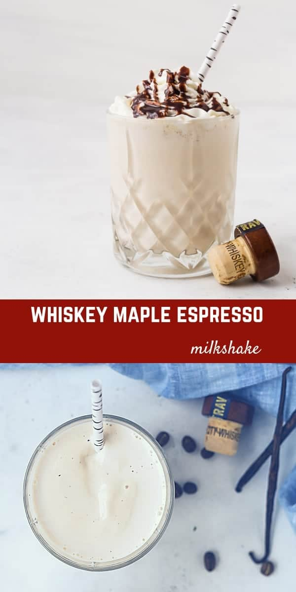 If you're ready to take your St. Patrick's Day (or any other day) up a notch, you have to make these maple whiskey milkshakes! The flavors of whiskey, maple, vanilla, and espresso work together in a dreamy way to make this the perfect milkshake.