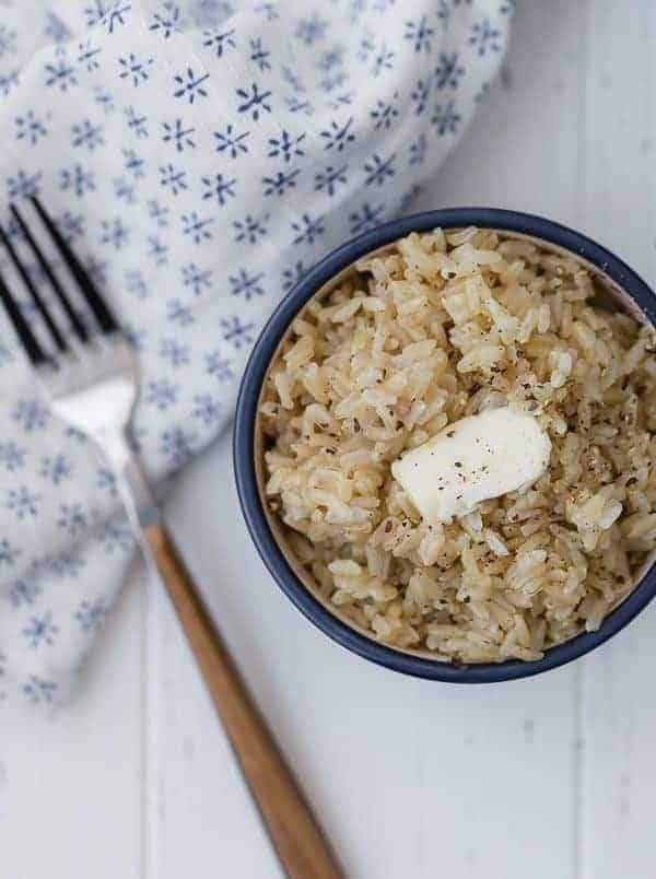 Instant Pot Brown Rice is easy to make and comes out perfectly every time! No more guessing games when it comes to making rice!