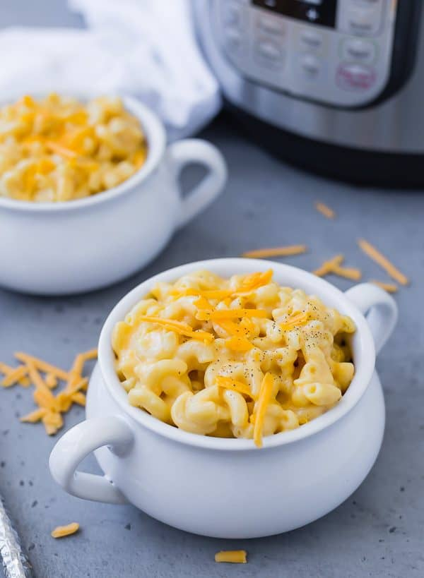Instant Pot Mac and Cheese is creamy, cheesy, and everything you want from mac and cheese. Works great with whole wheat pasta, too!