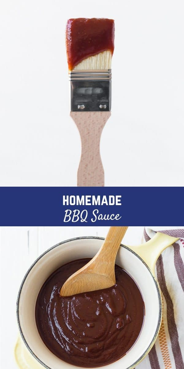 This homemade BBQ sauce recipe is the perfect blend of sweet, spicy, and smoky and it's perfect on chicken, pork, jackfruit...whatever your heart desires.