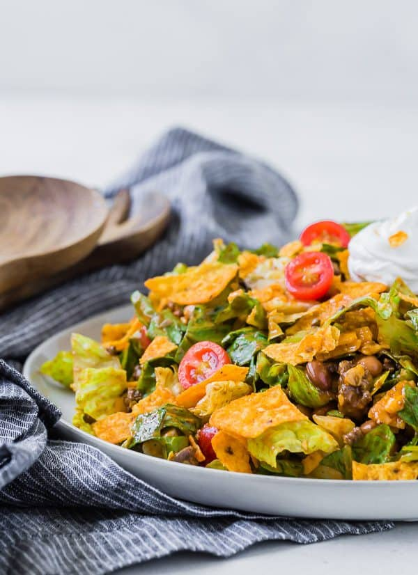 This is the best classic taco salad recipe that everyone LOVES. You'll also find lots of ways to adapt it and make it just the way you like it!
