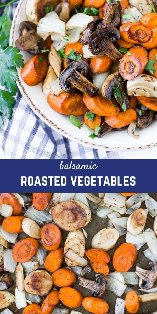 These easy balsamic roasted vegetables are flavorful, irresistible, and easy to adapt with what vegetables you have on hand.