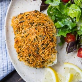 Image of parmesan baked cod.