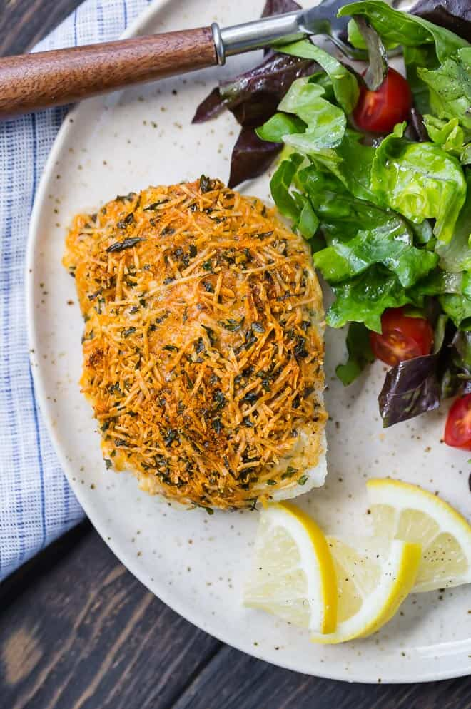 Parmesan Baked Cod Recipe With Lemon Rachel Cooks