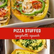 Pizza, spaghetti, and squash? Sounds unlikely, but wait for the explosion of flavor when you try this surprisingly easy pizza stuffed spaghetti squash!