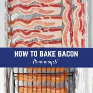 Love bacon but hate the hassle and mess? Baked bacon is the answer: very little mess and perfect bacon slices every time!