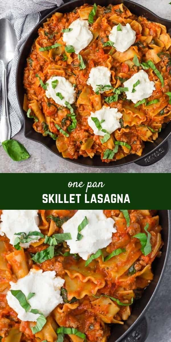 Love lasagna but hate fussing with layering everything up? This easy skillet lasagna is going to make your life way easier. It's just as delicious, but with a fraction of the work.