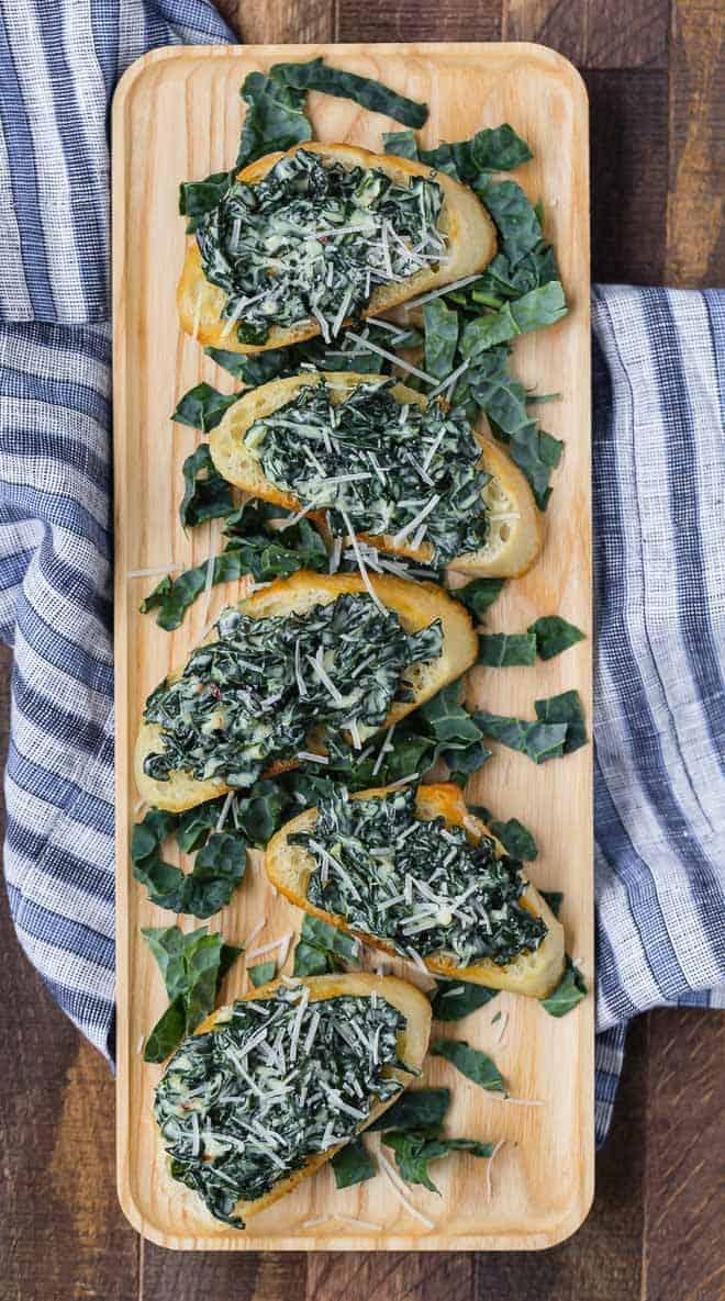 Image of creamed kale on toast