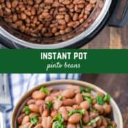 Ready to use in your favorite Mexican style recipe, or to just eat plain, these Instant Pot pinto beans are a game changer, with no soaking and a much quicker cook time.