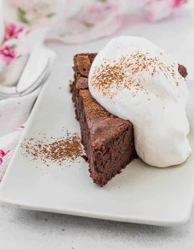 Image of flourless Mexican hot chocolate cake.
