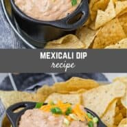 Similar to the popular dip found in grocery store delis, this Mexicali dip is deliciously addictive. Use this recipe to make your own much better tasting preservative-free Mexicali dip.