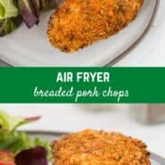 These breaded air fryer pork chops are flavorful, crispy, and so juicy, all without deep frying! You'll love the flavor and texture of these boneless pork chops.
