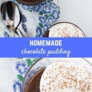 Homemade chocolate pudding made on the stovetop is a creamy and satisfying dessert. Why use a boxed mix when homemade pudding is so simple and so much better tasting?